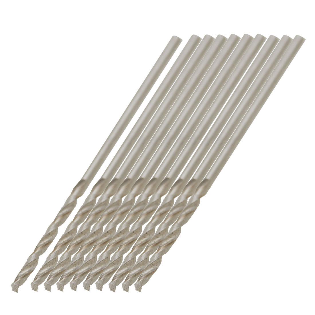 10 Pcs HSS Straight Shank 1.1mm Diameter 37mm Long Twist Drill Bits