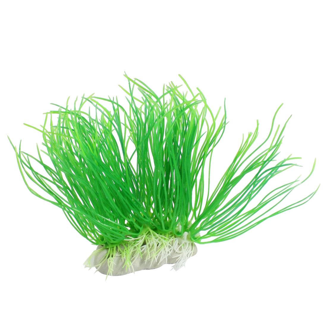 "Green Emulational Underwater Grass Decoration 4.5"" Height for Aquarium"