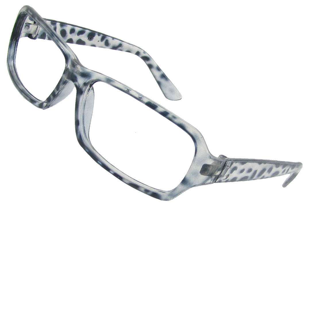Black Leopard Pattern Plastic Full Rims Eyeglasses Frame for Lady