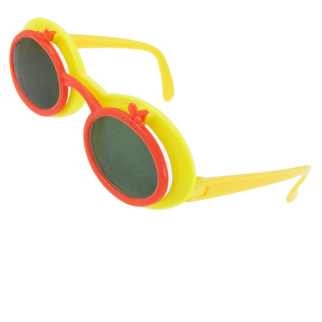 Yellow Orange Flip up Eyewear Sunglasses for Kid Kids