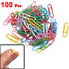 100 Pcs Multicolor Metal Office Stationery Paper Bookmark Clip w Case