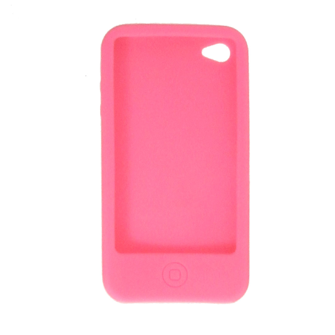 Fuchsia Soft Silicone Back Case Protector for Apple iPhone 4 4G