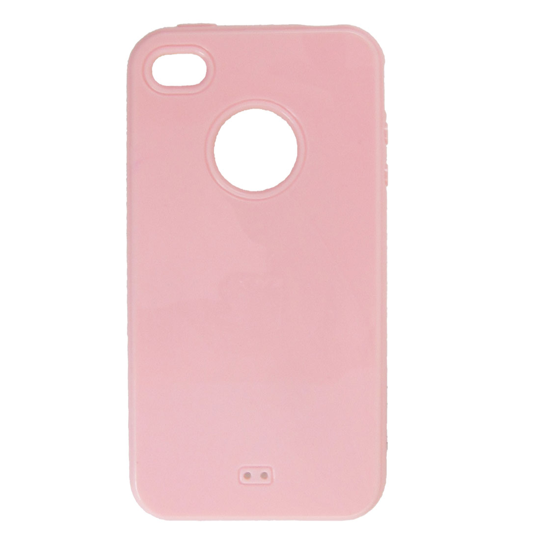 Pink Soft Plastic Back Case Protector for iPhone 4G 4S