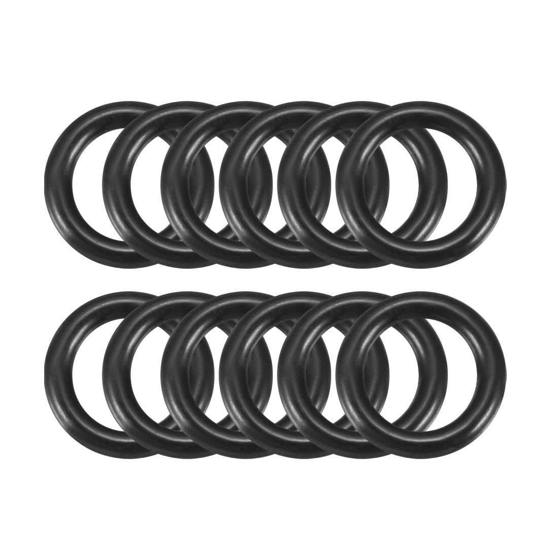 Black 11.5mm x 2.0mm Rubber Sealing Washers Oil Seal O Rings 12 Pcs