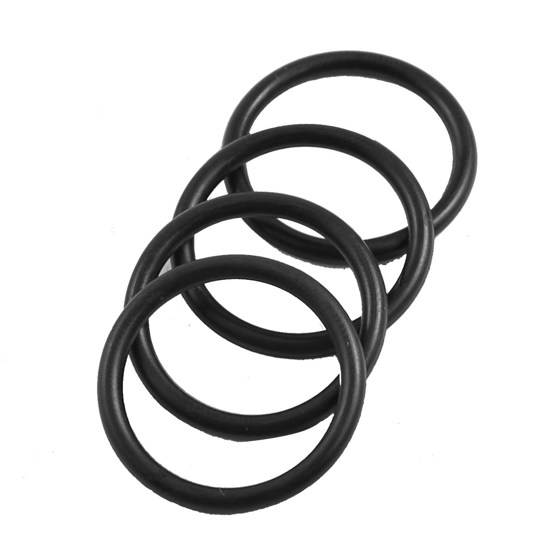 4 Pcs 24mm x 2.2mm x 19.6mm Rubber Oil Sealing O Rings for Mechanical