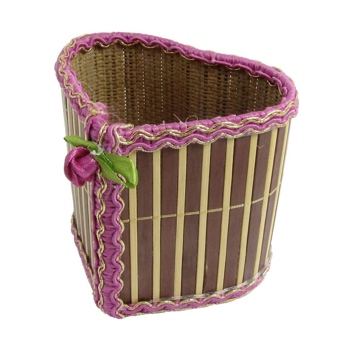 Heart Style Babmoo Metal Thread Lacing Storage Basket Holder