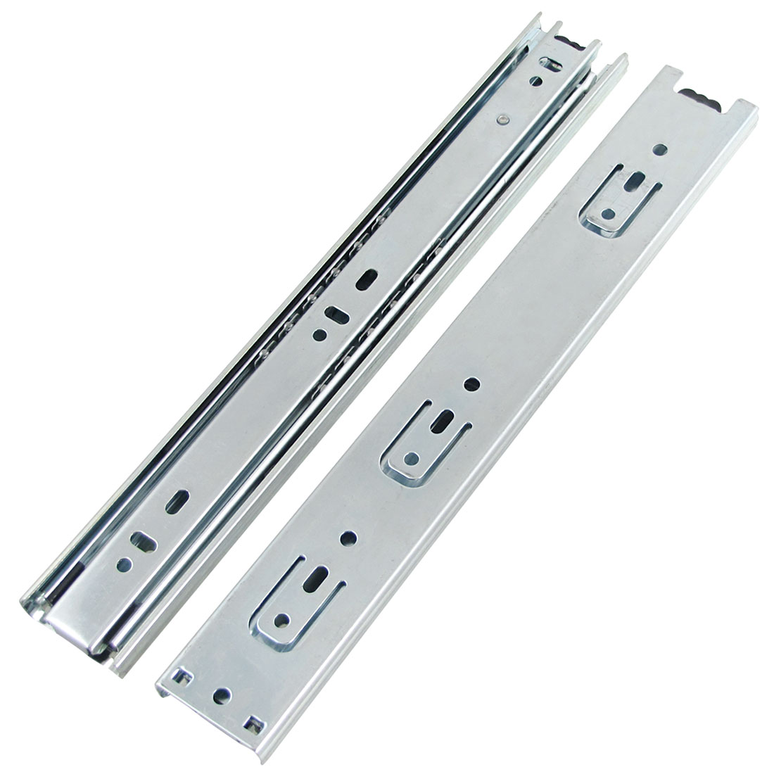 "Pair 11"" Full Extension Ball Bearing Telescopic Drawer Runners Slide Rails"