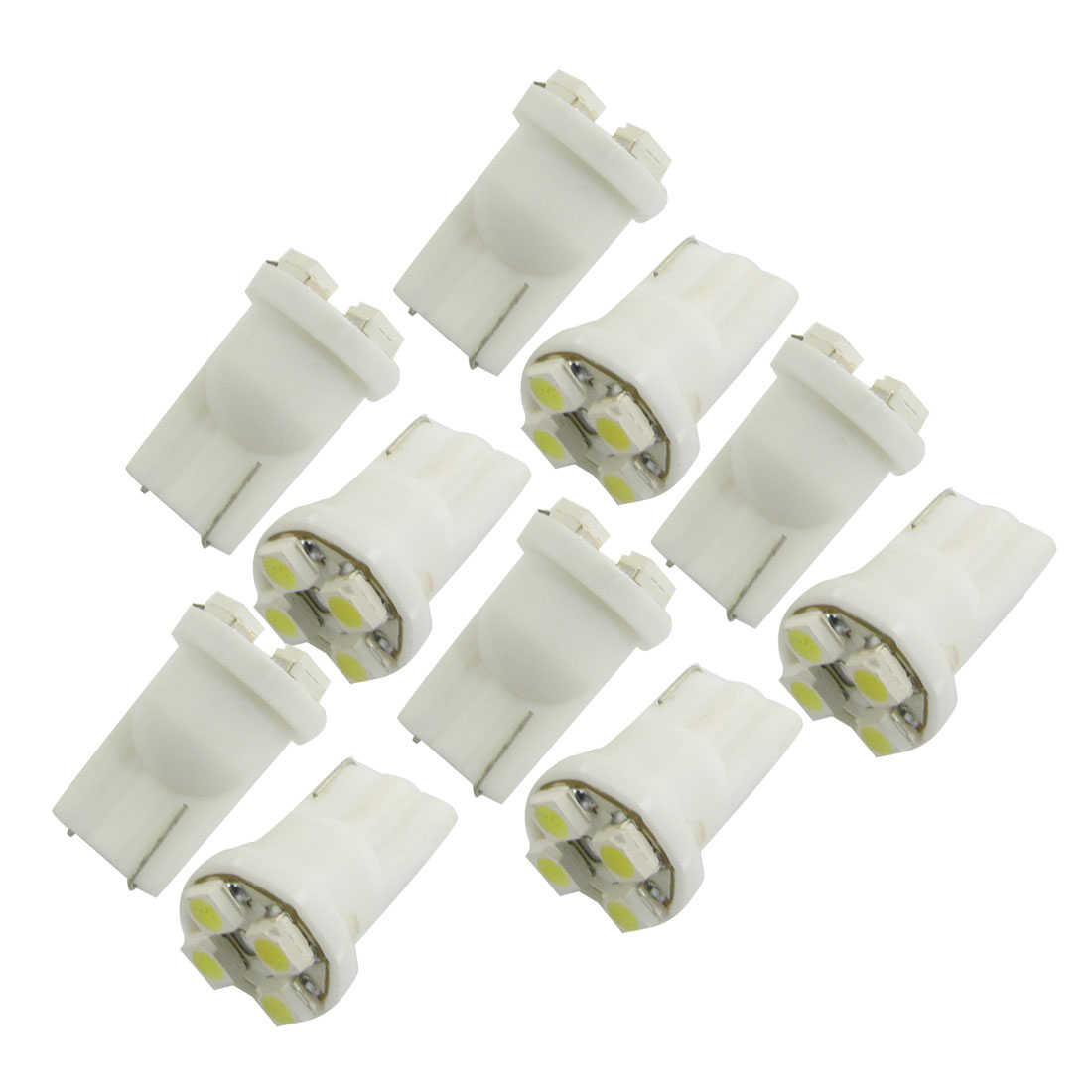10X T10 194 168 W5W Wedge 1210 SMD 4 LED Bulbs White Car Tail Light 12V