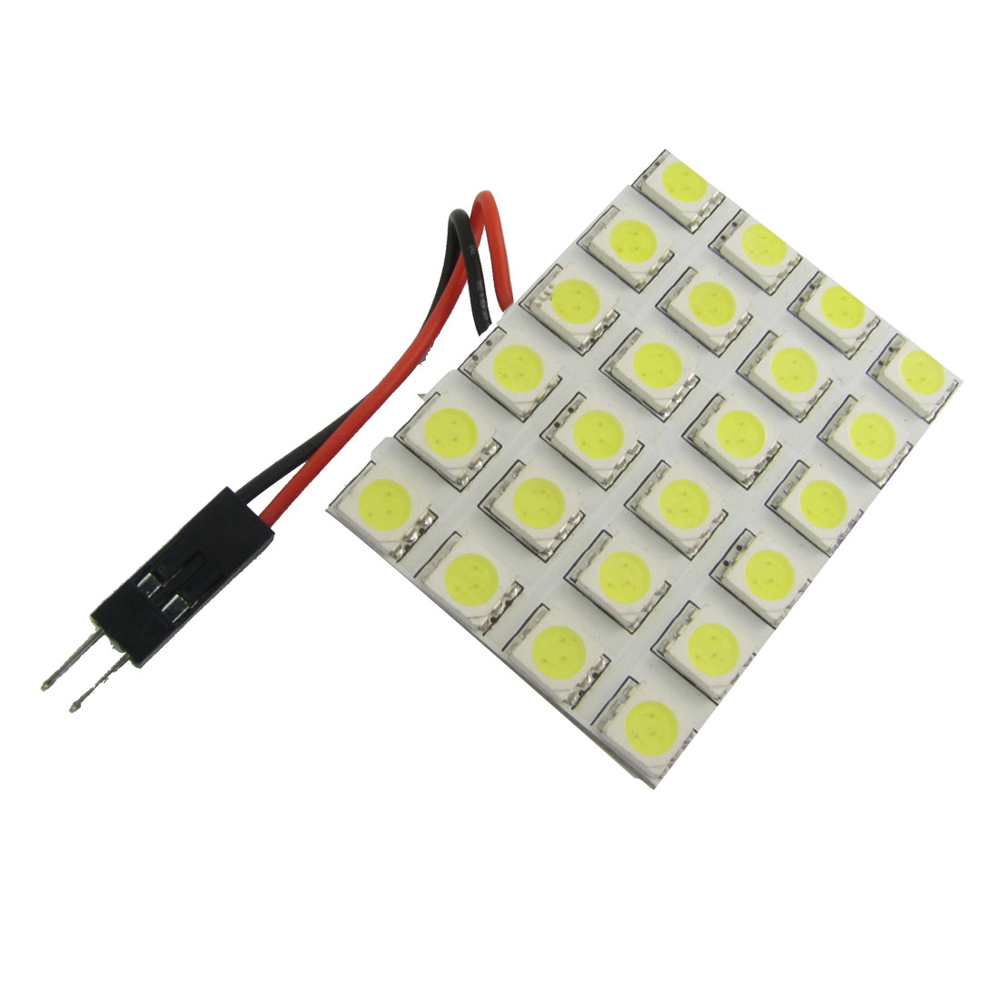 Car Interior White 5050 SMD 24 LED Dome Light Panel T10 BA9S Festoon Adapter