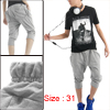 Mens Fashion Sports Shorts Casual Short Harem Pants NEW W31
