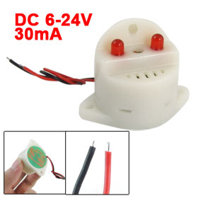 DC 6-24V 30mA 2 Wire Industrial Red LED Flash Alarm Buzzer Siren 95dB