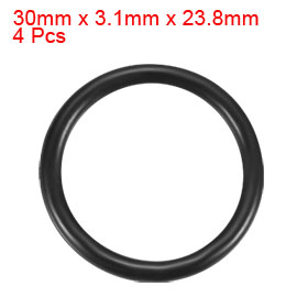 4 Pcs 30mm x 3.1mm x 23.8mm Rubber Oil Sealing O Rings for Mechanical