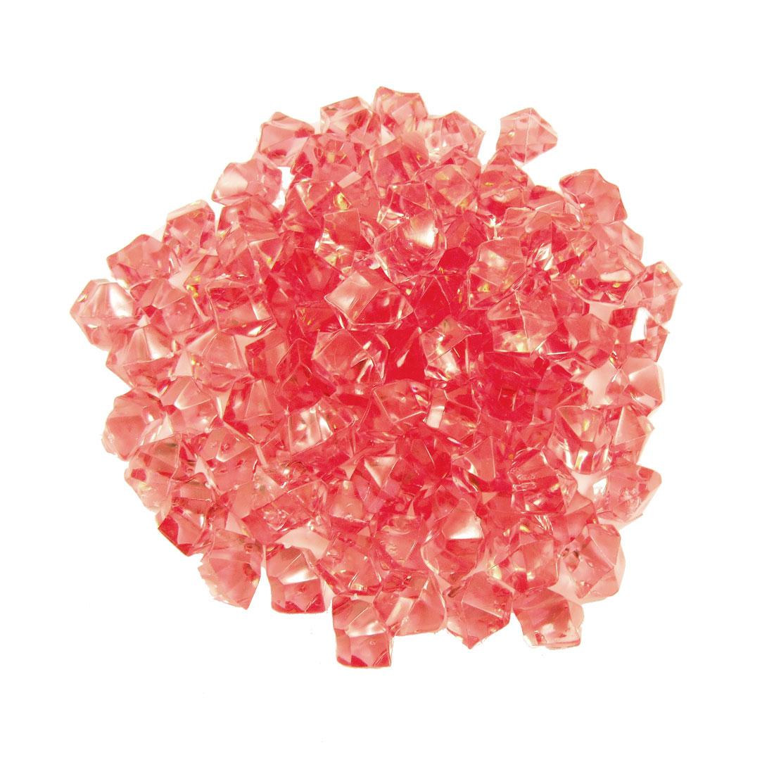 150 Pcs Red Faux Crystal Stones Ornament for Aquarium Fish Tank