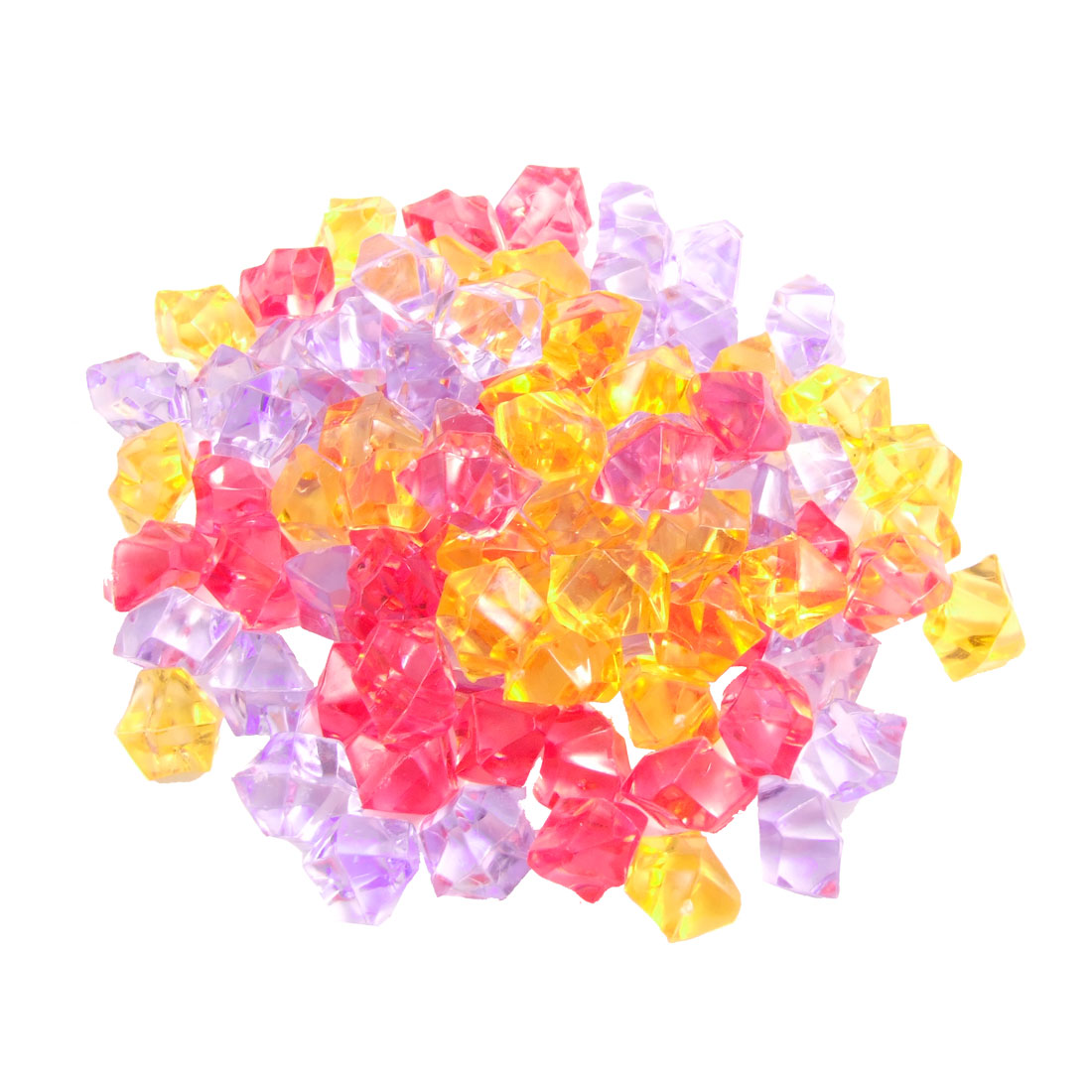 150 Pcs Plastic Crystal Stones Ornament Coloful for Fish Tank