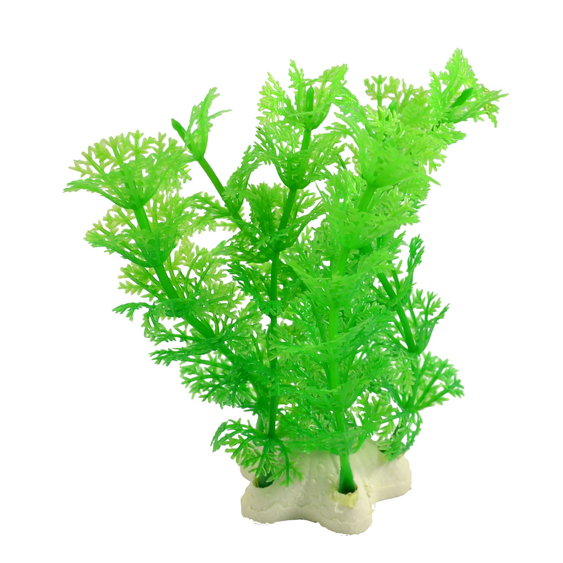 "Fish Tank 4.7"" High Emulational Green Snowflake Leaf Plant Adorn"
