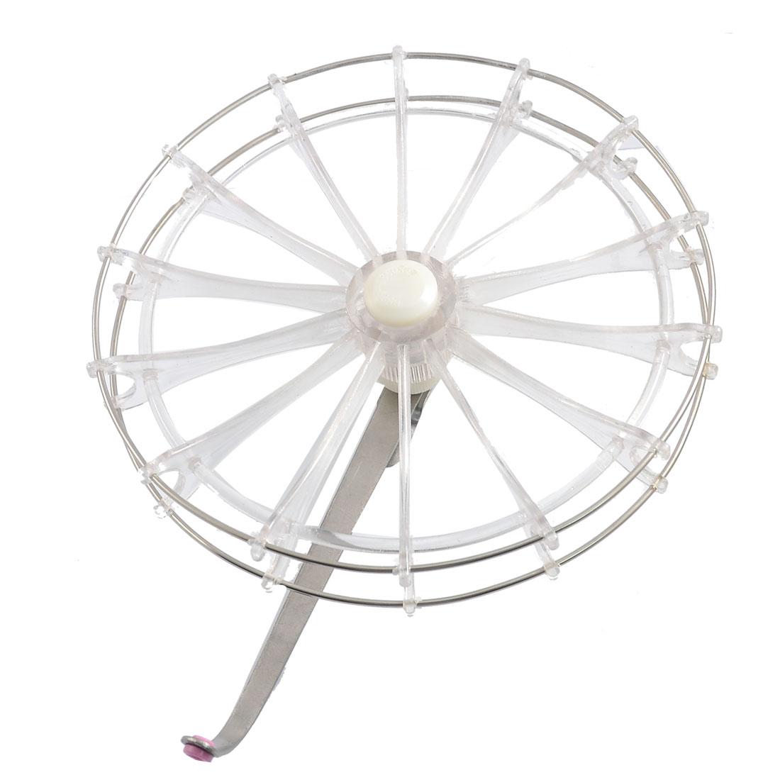 Silver Tone Clear 170mm Diameter Fly Fishing Wheel Reel Spool