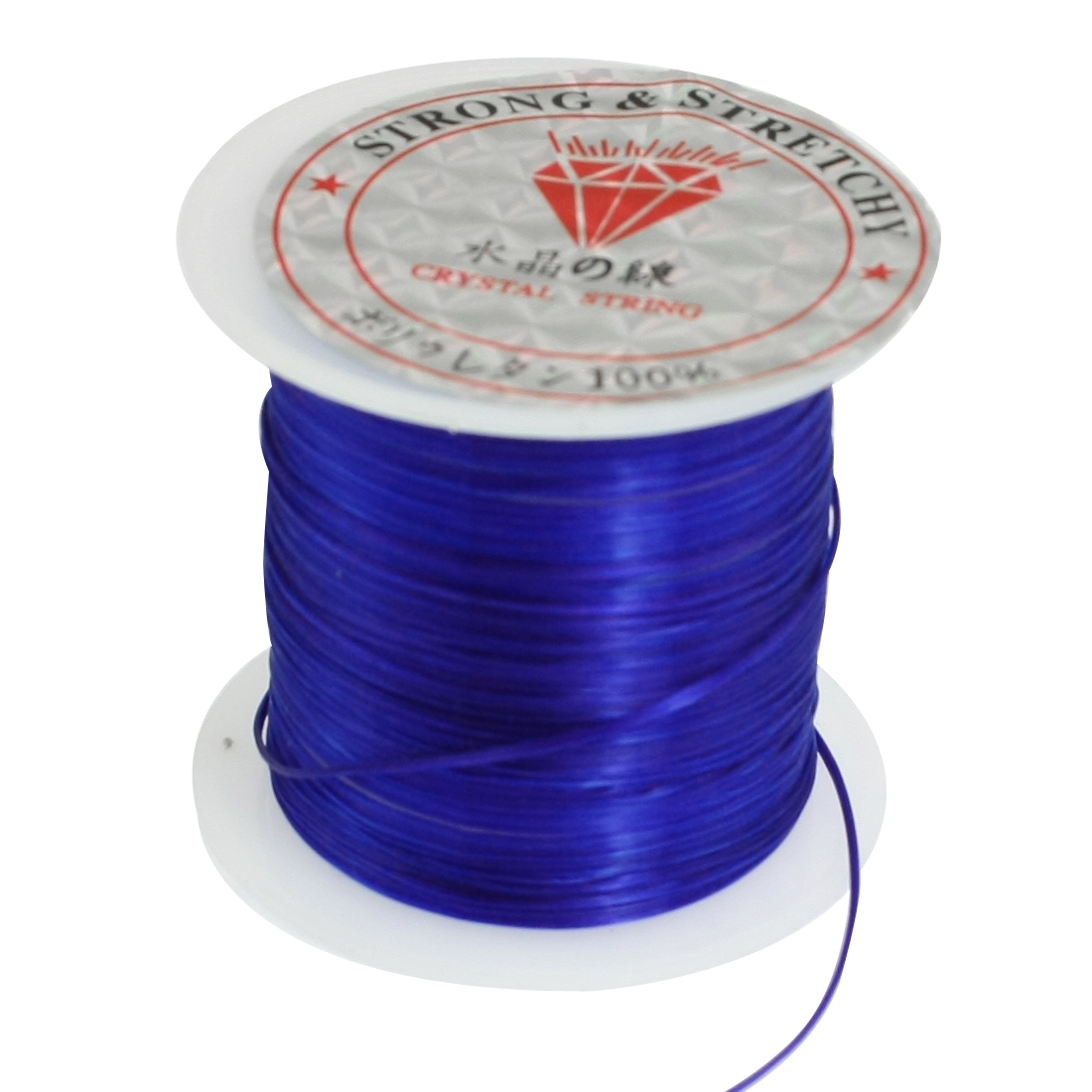 Dark Blue Elastic Crystal String Cord Jewelry Beading Thread Spool 9M 29.5 Ft