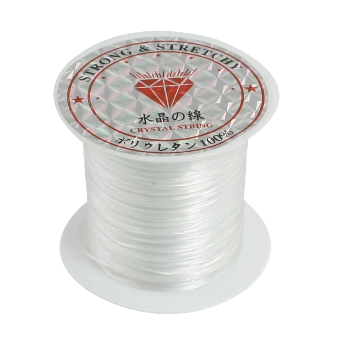 Pendant Jewelry Beading Thread Stretchy Crystal String Cord Spool White 9M