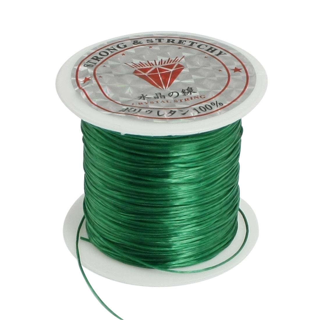 9M 29.5 Ft Long Dark Green Elastic Crystal Jewelry Beading Thread String Spool