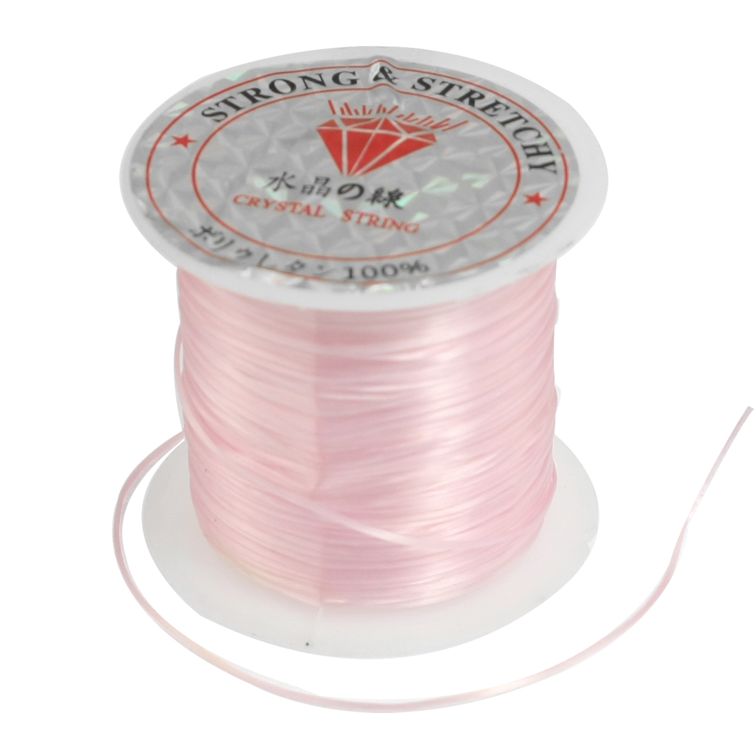 Pink Elastic Stretchy Crystal Line Jewelry Beading Thread Spool 9M