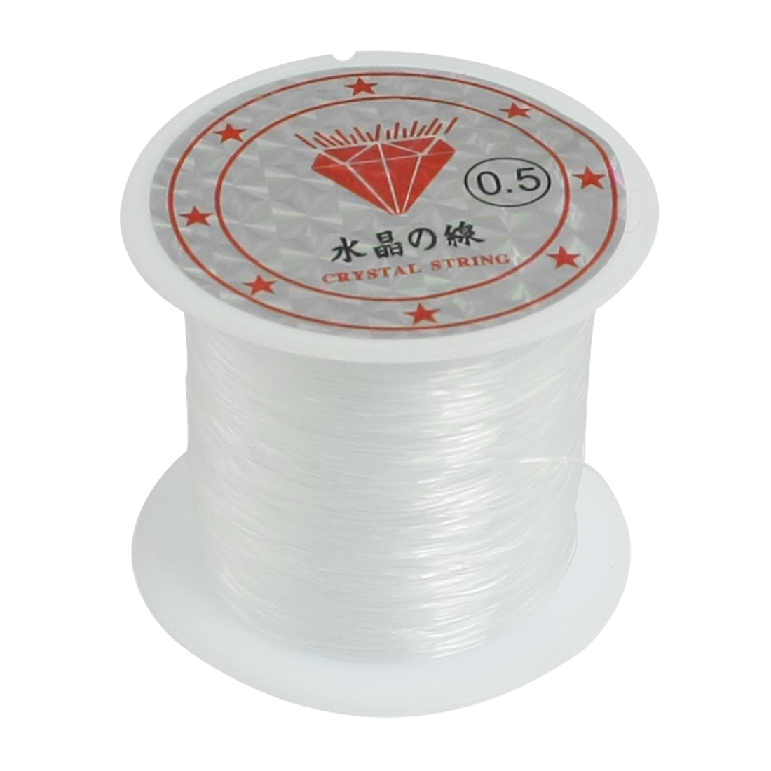 41Lbs Capacity 0.5mm Diameter Clear Nylon Fishing Line Cord Spool
