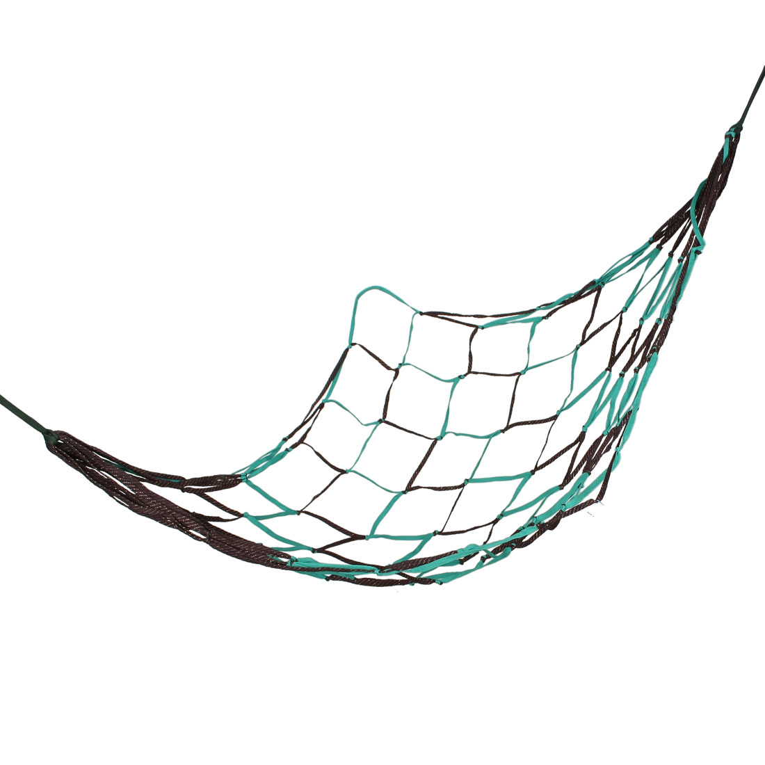"Outdoor Swing Nylon Mesh Hammock Net Teal Green Coffee Color 75"" x 28"""