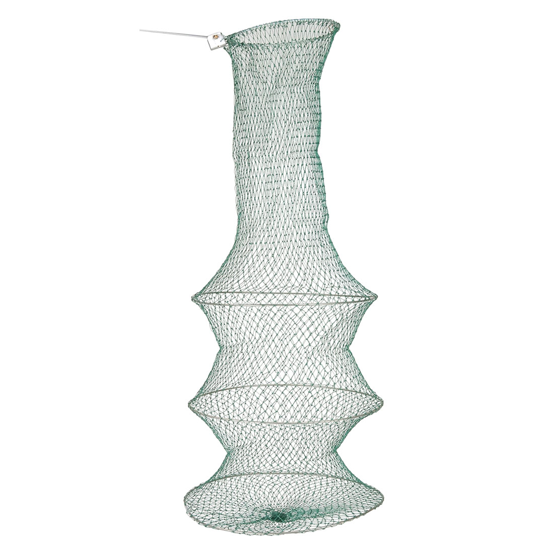 Green Knotted 3 Layer Meshy Collapsible Fishing Keep Net