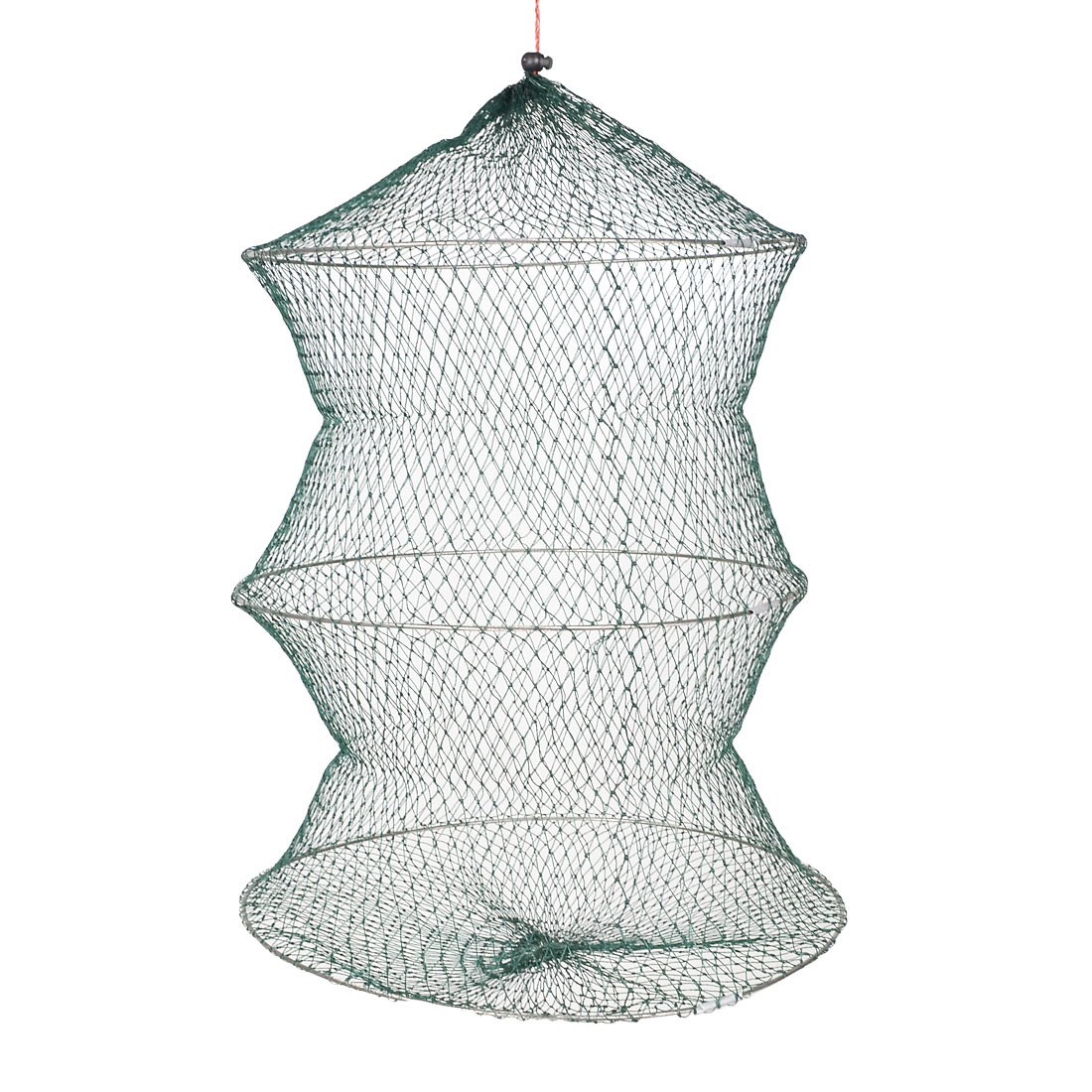 Green Mesh Fishing Netting 2-Layer Fish Lobster Shrimp Crab Net