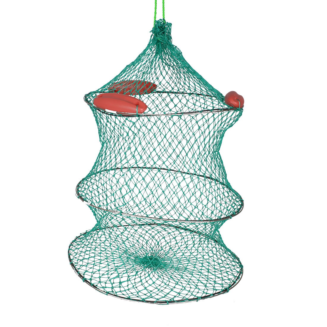 Green Shrimp Carwfish Lobster Crab Neeting 2 Layers Fishing Net