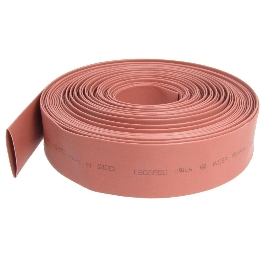 20mm Diameter Ratio 2:1 Heat Shrinking Shrinkable Tube Red 10M Long