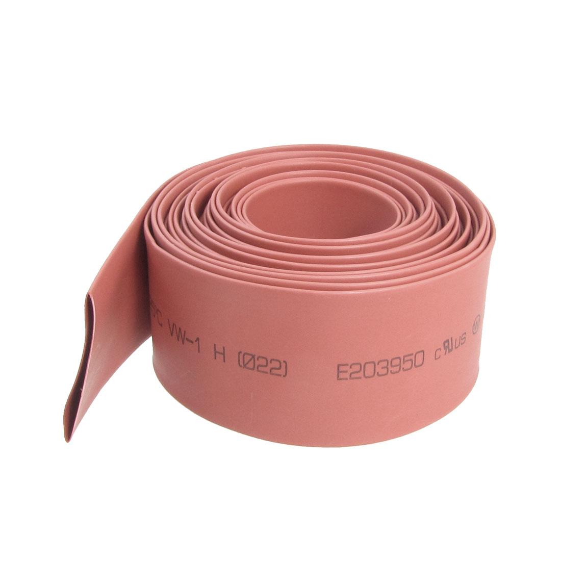 Ratio 2:1 22mm Dia. Red Heat Shrinkable Tube Shrinking Tubing 4M