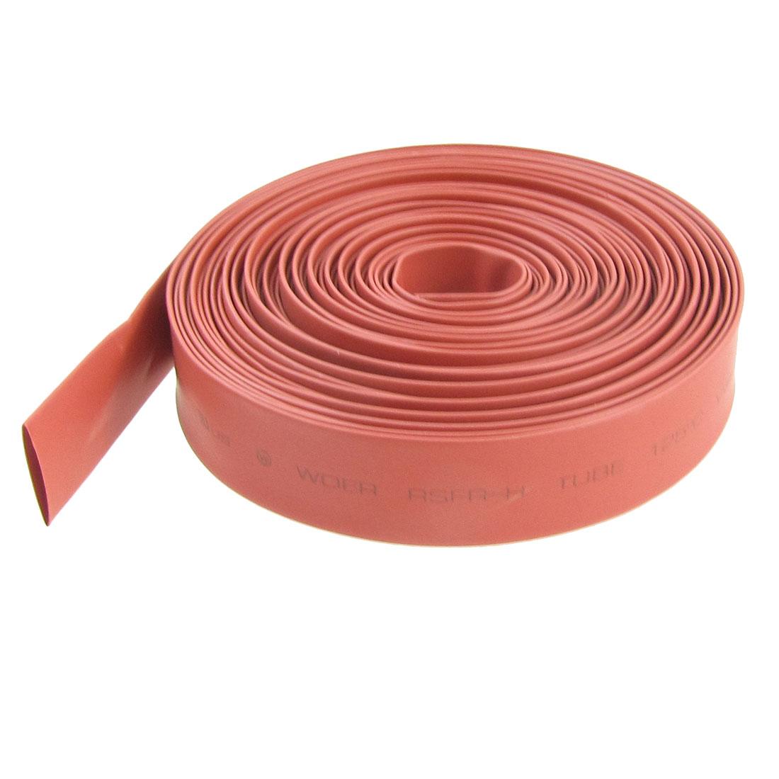 Ratio 2:1 11mm Dia. Red Heat Shrinkable Tube Shrinking Tubing 8M