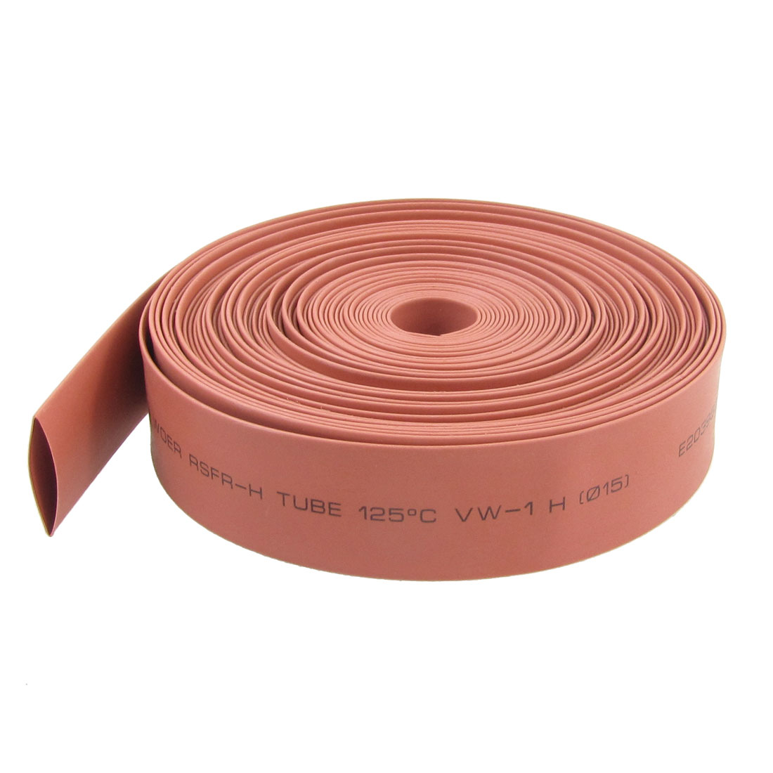 15mm Diameter Red Polyolefin Heat Shrinkable Tube 32.8 Ft 10M