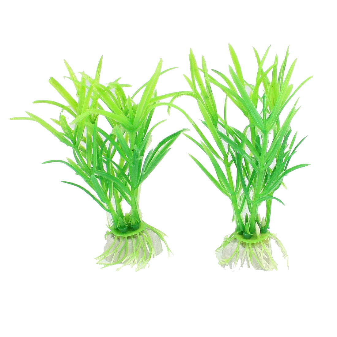 2 Pcs Green Plastic Grass Plant Decoration for Fish Tank Aquarium