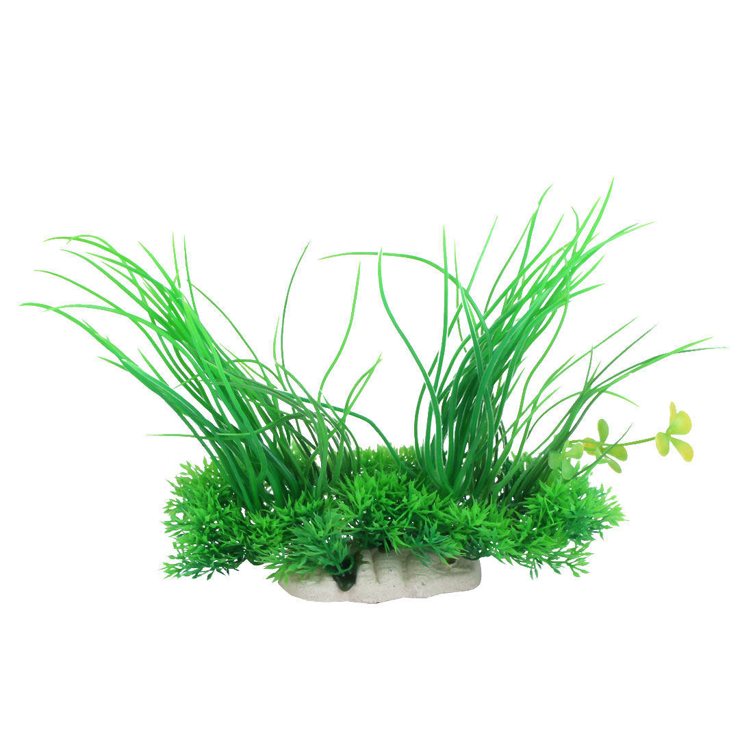 Aquarium Emulational Green Plastic Long Leaf Plant Decor 20cm