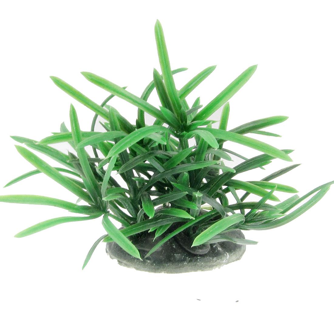 7cm Green Artifiacial Plants Plastic Grasss Fish Tank Decoration