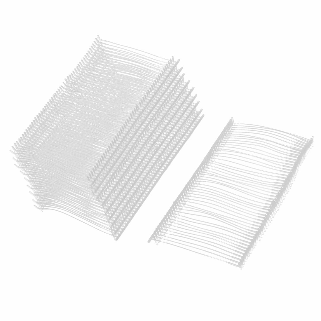 White Plastic Pillow Wash Care Label Clothes Price Tag Strip 500 Pcs