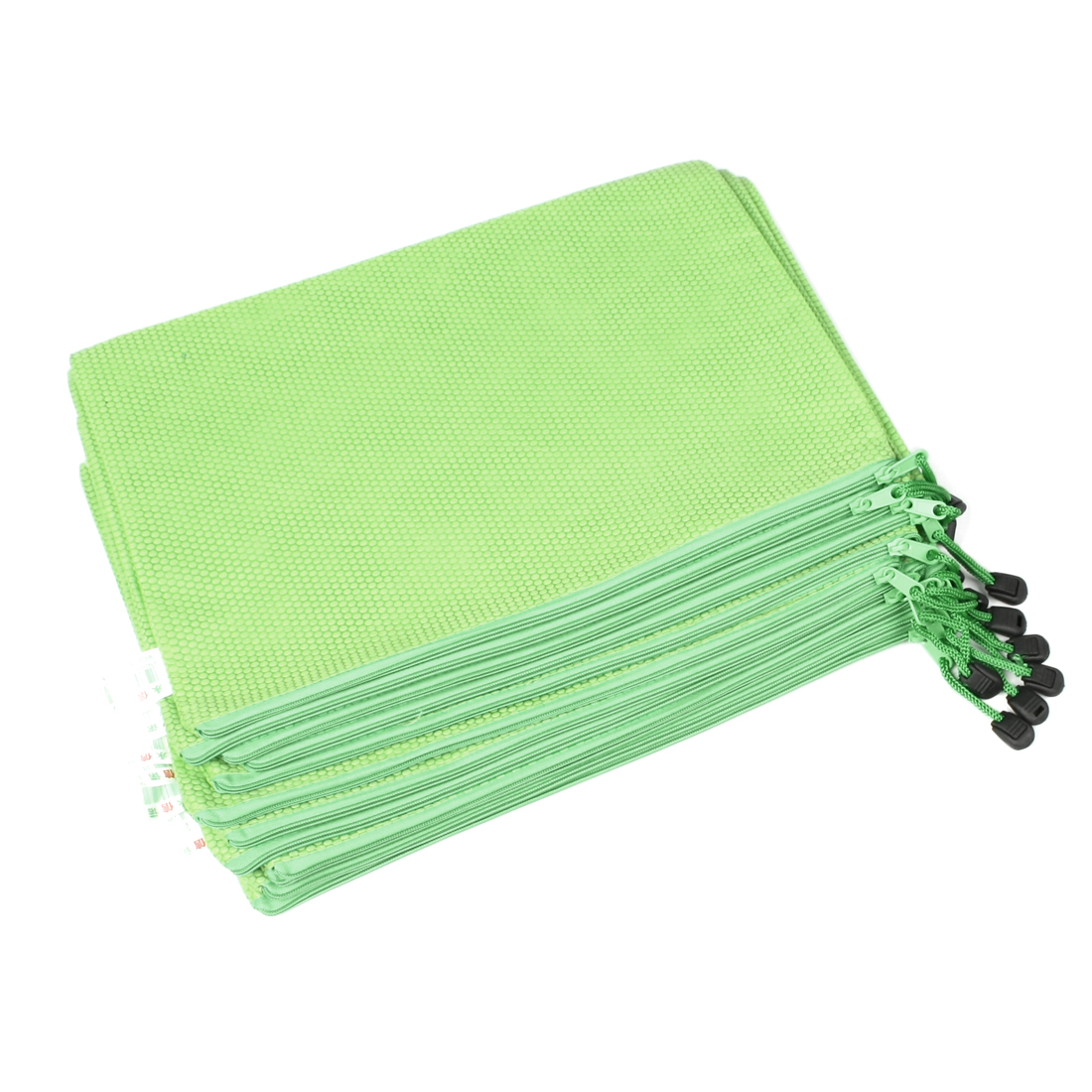 Dots Prints Nylon A4 Paper Files Document Organizer Bags Green 12 Pcs