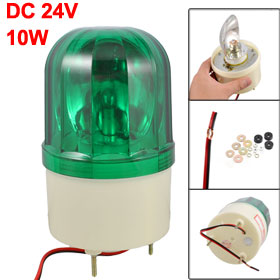 DC 24V Green Rotary Light Halogen Bulb Industrial Signal Warning Lamp 10W