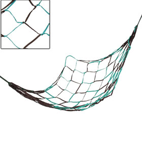 "Outdoor Swing Nylon Mesh Hammock Net Teal Green Coffee Color 75"" x 28"""