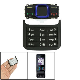 Black Plastic Replacement Button Keyboard for Nokia 7100
