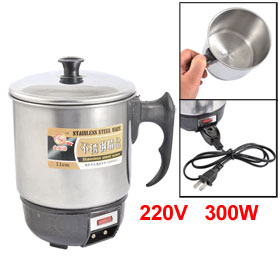 AC 220V 300W Plastic Nonslip Handle Metal 763ml Electric Cup
