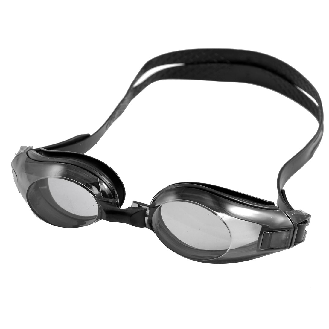 Black Plastic Frame Adjustable Strap Swimming Goggles for Children