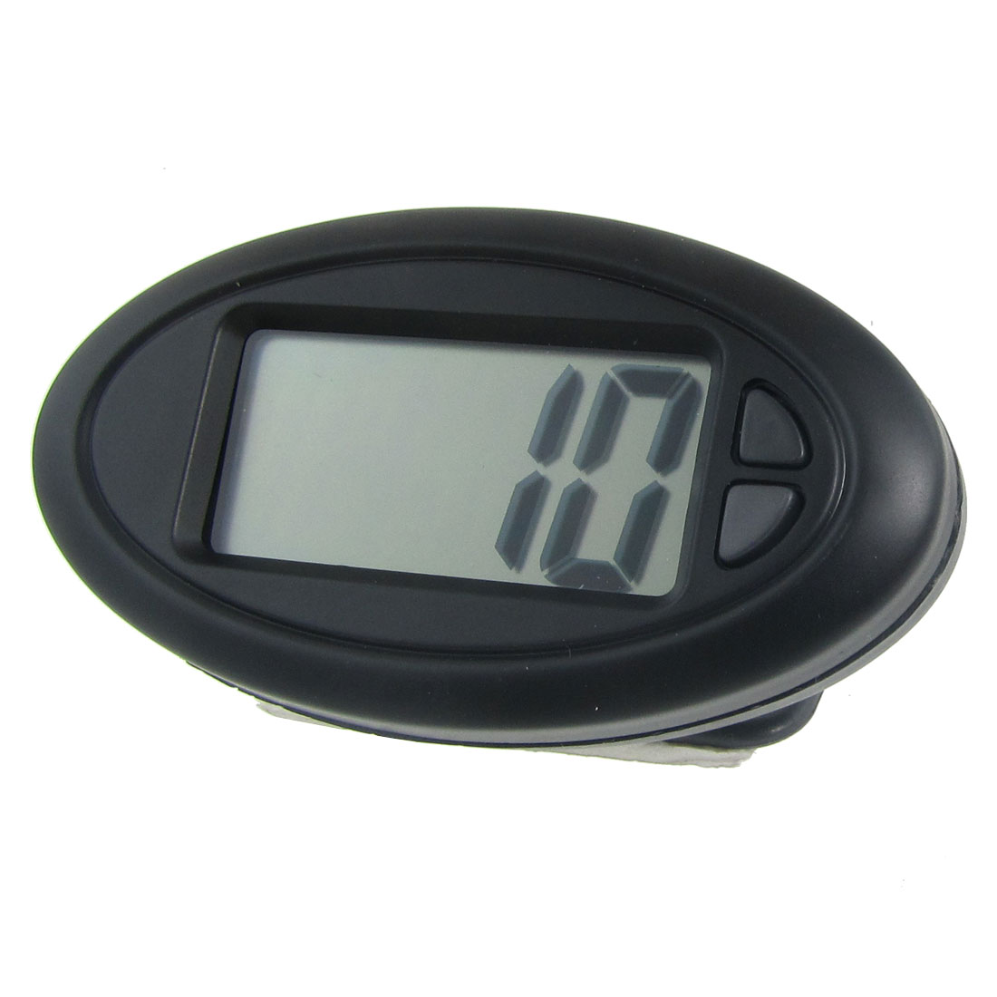Car Dashboard Desk LCD Digital Clock w Back Self Adhesive