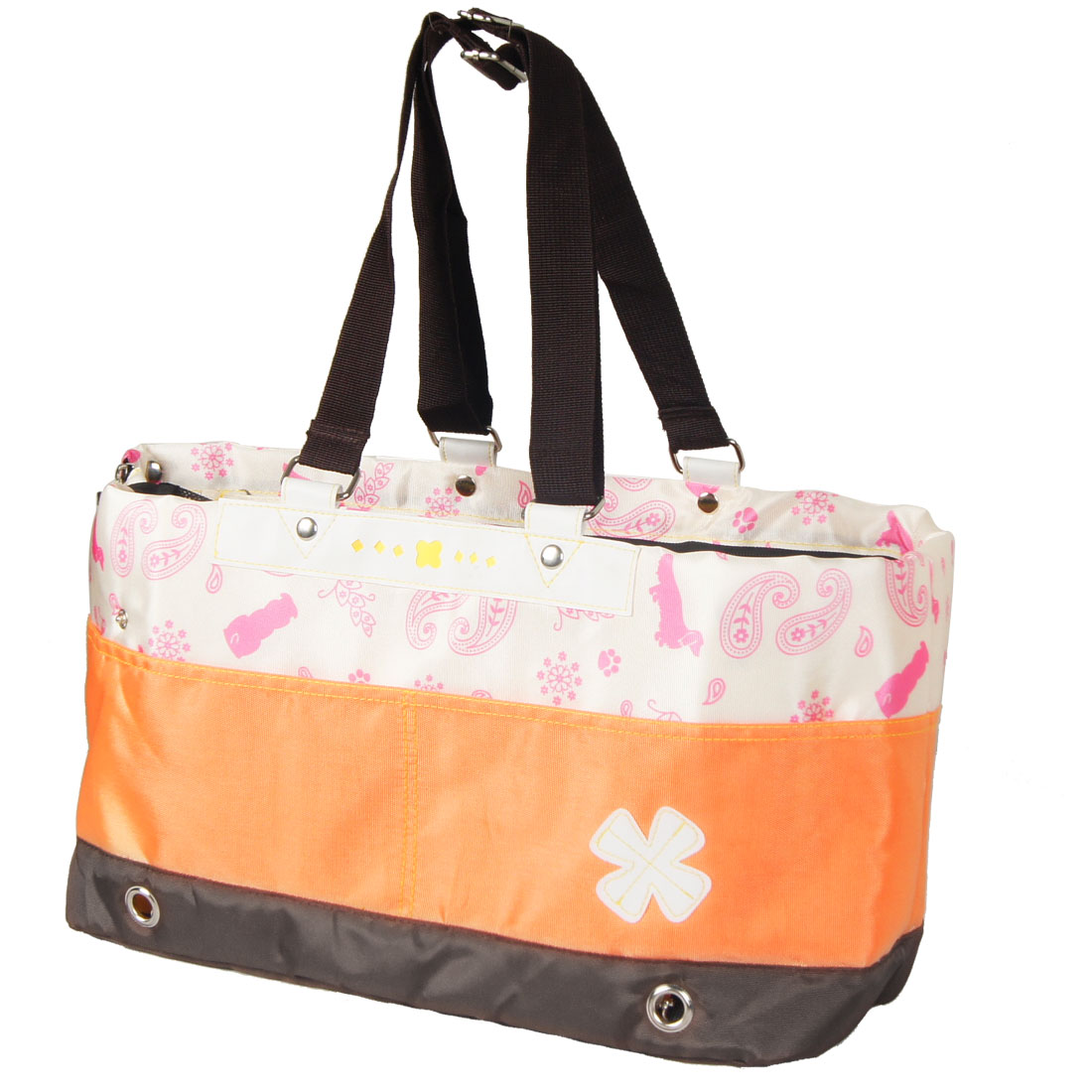 Orange Nylon Soft Pet Puppy Dog Cat Carrier Trabeling Carrying Tote Bag Backpack