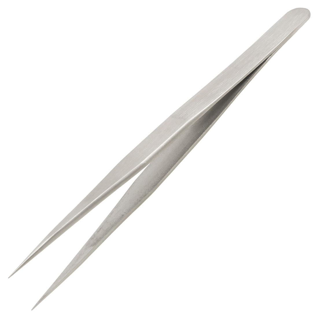 13cm Length Silver Tone Pointed Tip Straight Tweezer Repair Tool