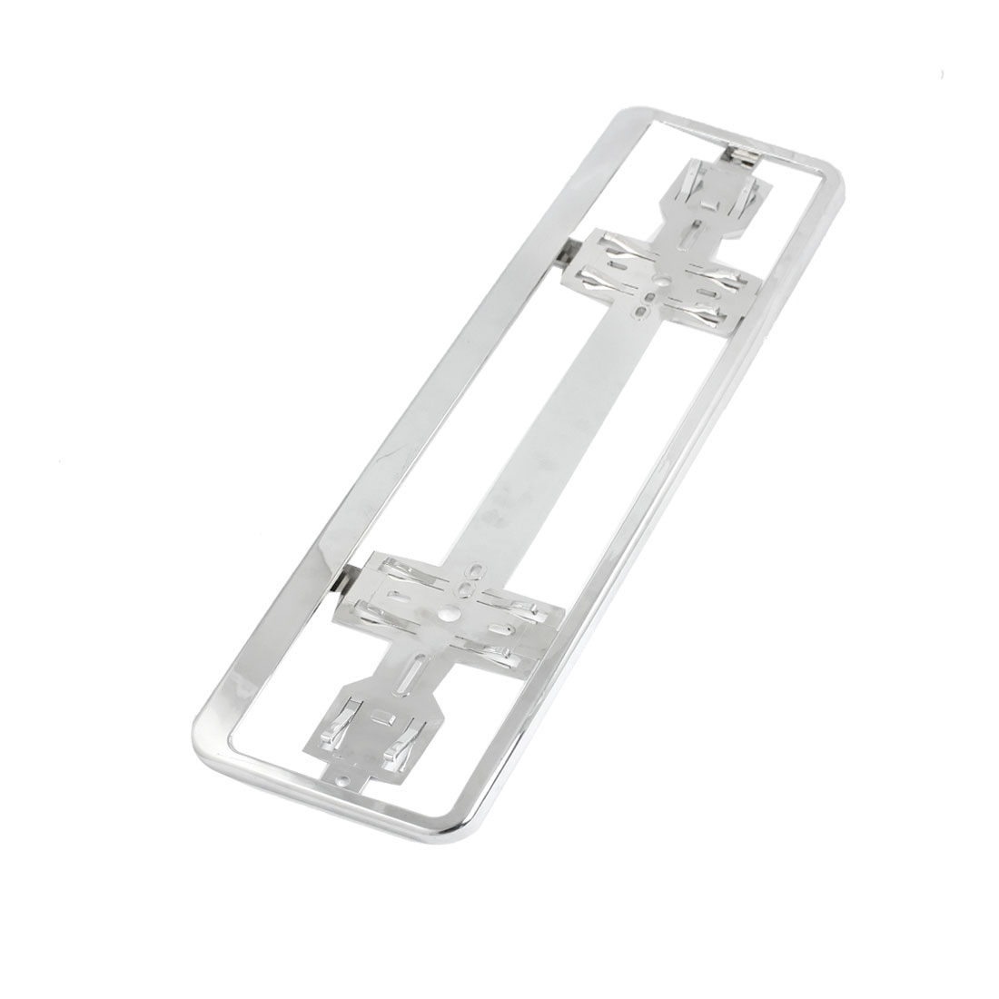 Silver Tone Number Plate Plastic Holder Bracket for Car Auto