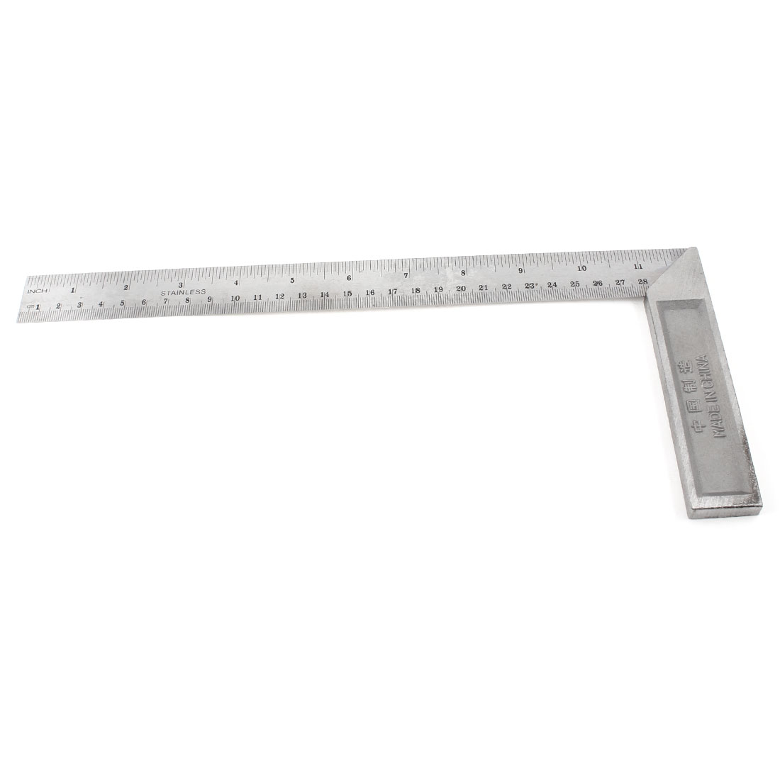L Shaped Angle Stainless Steel Square Ruler 0-30CM 0-12Inch Measuring Tool