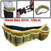 Electrician Quick Release Buckle Nylon Work Belt Olive Green Yellow