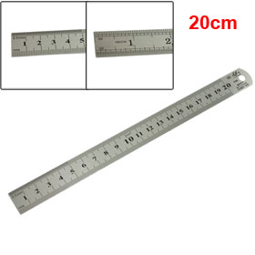 "20cm 8"" Double Side Metric Stainless Steel Straight Ruler"